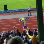Emil von Barth hyllas efter bronset på 100m