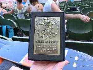 Christoffers pris för tävlingsrekordet